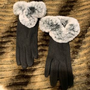 Beautiful, elegant wool gloves. Winter. #A184